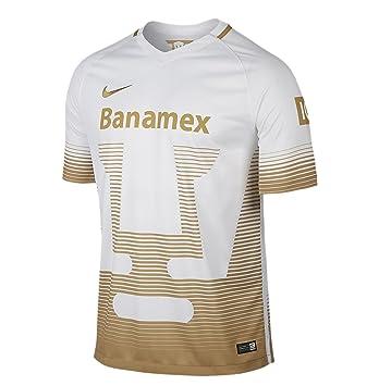 best service 94e50 4e67a NIKE Men's Pumas 2016 Home Football White/Club Gold Jersey