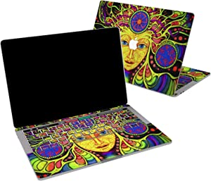 Lex Altern Vinyl Skin for MacBook Air 13 inch Mac Pro 16 15 Retina 12 11 2020 2019 2018 2017 Psychedelic Acid Colorful LSD Art Tribal Teens Laptop Wrap Cover Keyboard Decal Sticker Touch Bar Girls