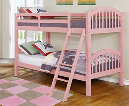 Amazon Com Major Q Wood Frame Bunk Bed With Easy Access Guard Rail