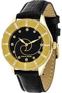 Pierre Cardin Women s Quartz Watch with White Dial Analogue Display and  Gold Leather L PC105112F05 623e8dfd2b