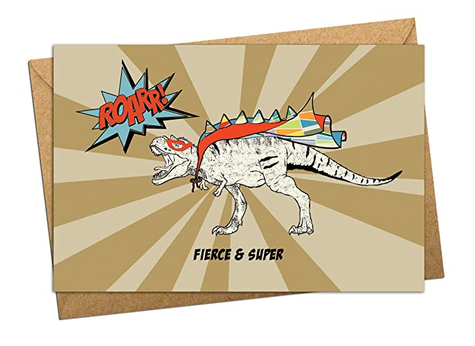 Image Unavailable Not Available For Color T Rex Birthday Card
