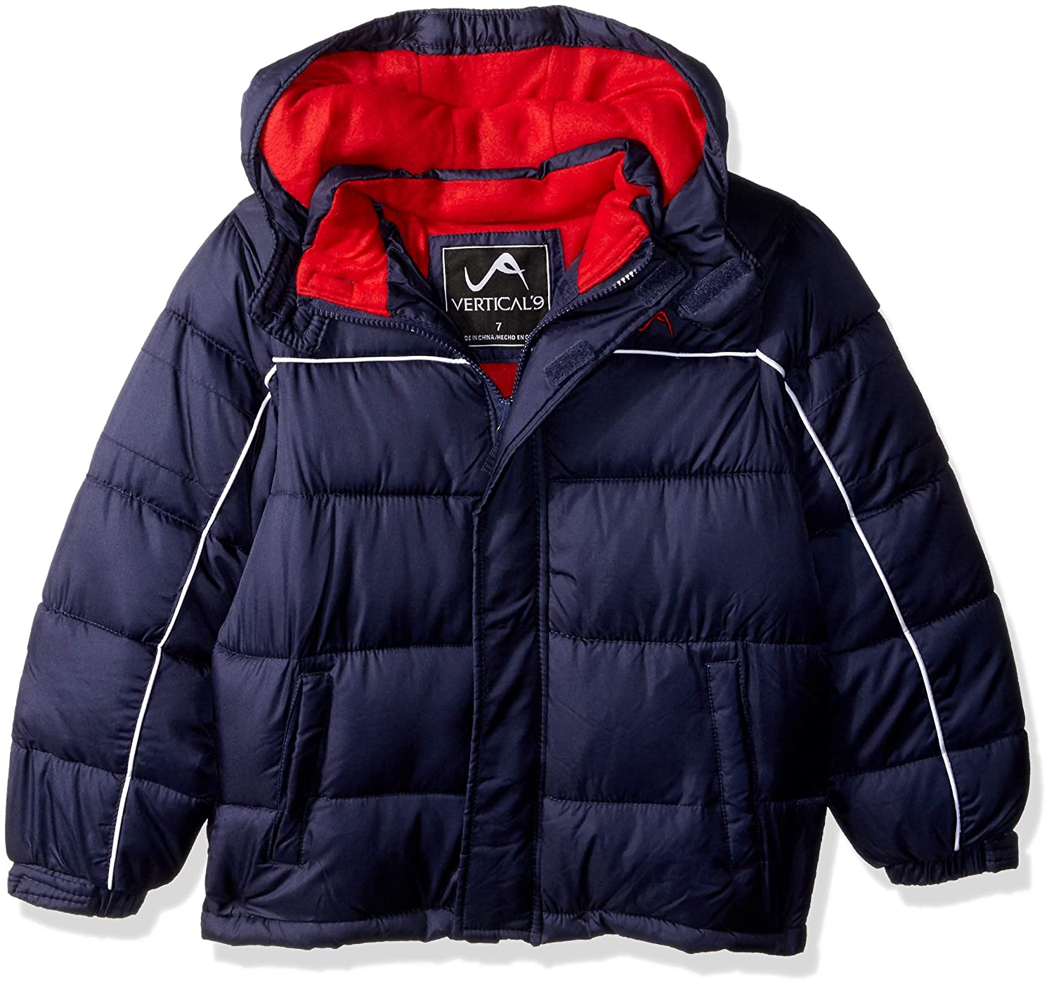 Vertical '9 Boys' Lines Bubble Jacket