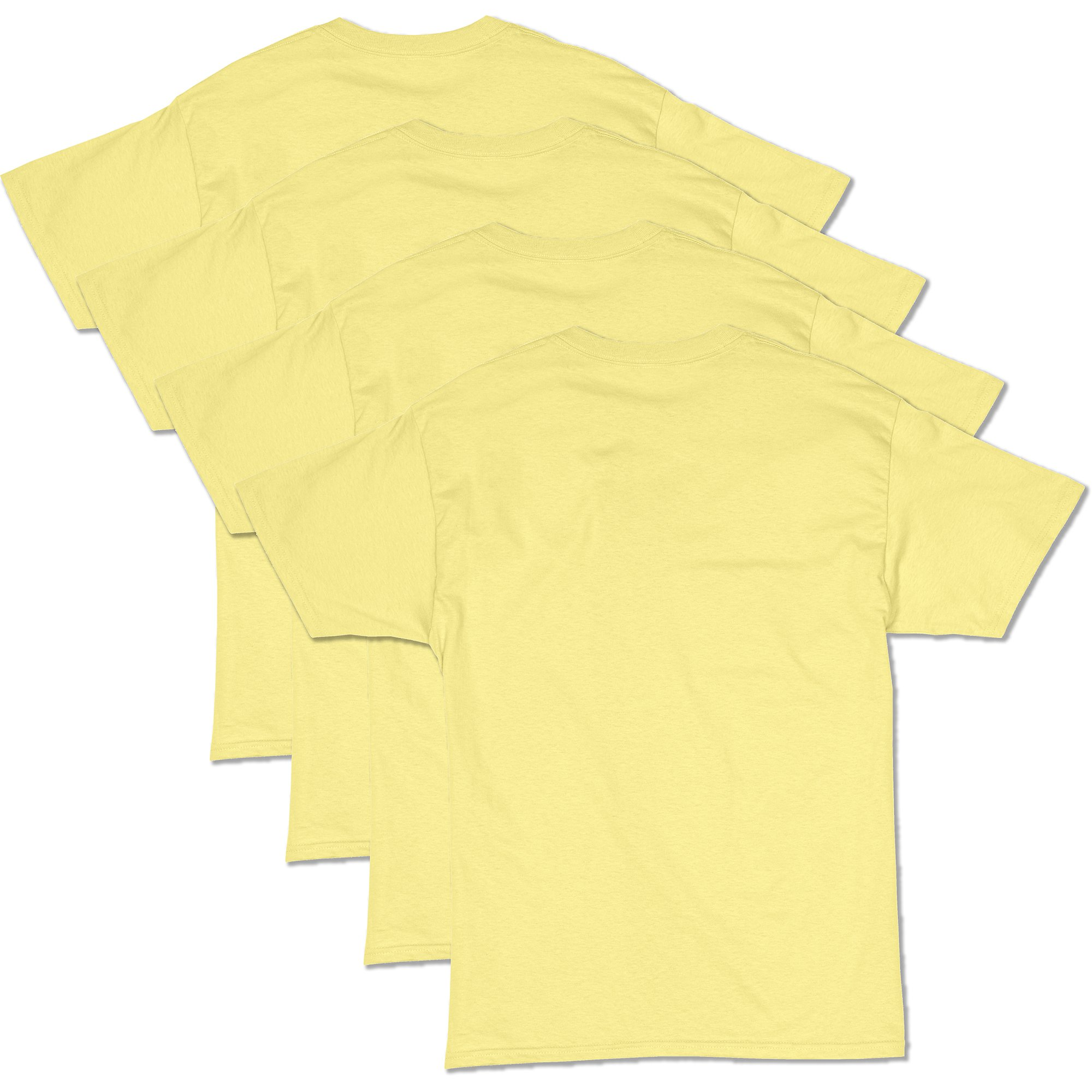 Hanes Men's Comfortsoft T-Shirt (Pack Of 4),yellow,3XL by Hanes (Image #2)
