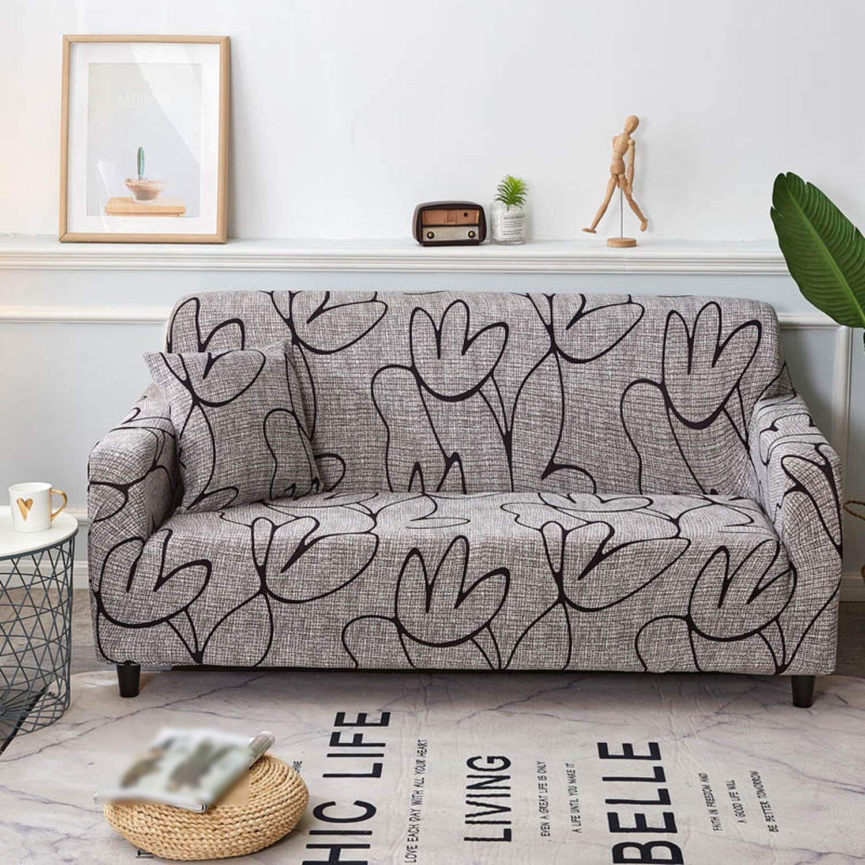 Love every day Funda de sofá geométrica elástica Universal ...