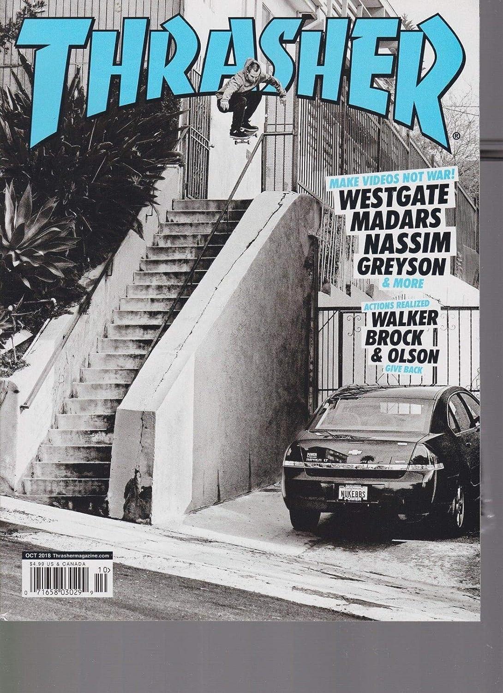 Thrasher magazine oct skateboarding magazine free sticker sealed everything  else jpg 1090x1500 Skateboarding thrasher d188fee83aa