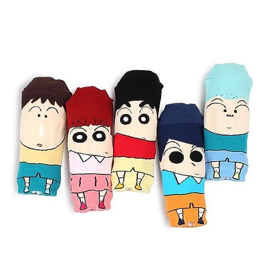 amazon com intype crayon shin chan licensed socks collection with