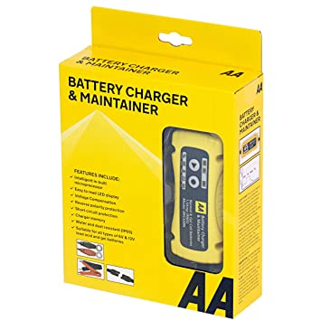 Bike Battery Charger for 6V and 12V Lead Acid  Black//Yellow AA Intelligent Car