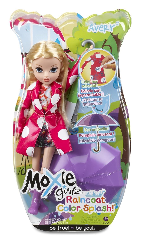 amazon com moxie girlz raincoat color splash avery doll toys u0026 games