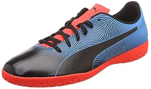 2a1bbf7aa2bb Puma Men s Spirit II IT Black-Bleu Azur-Red Blast Football Boots-10 ...