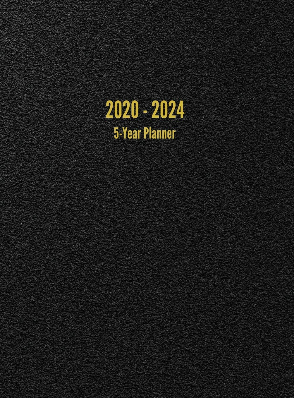 2020 – 2024 5-Year Planner: 60-Month Calendar (Black)