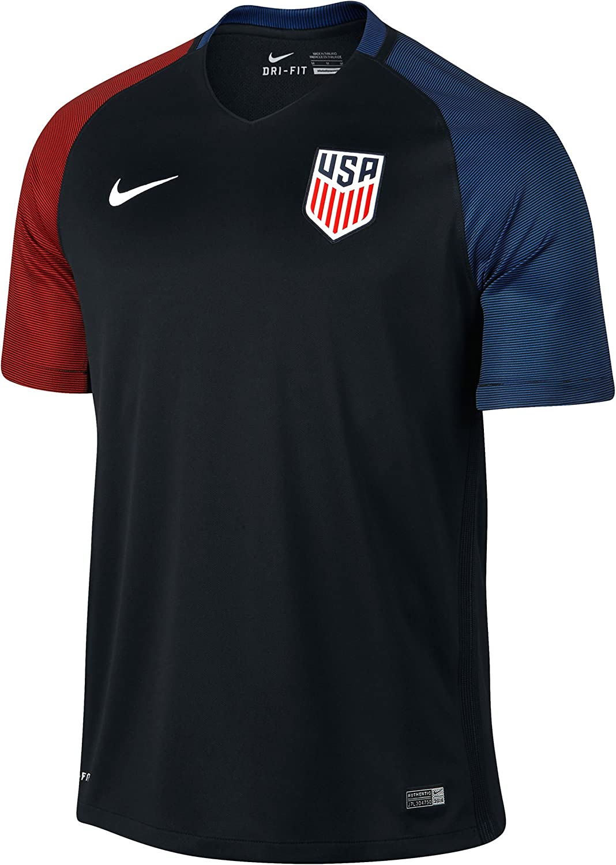 Ambiente Sentido táctil clásico  Amazon.com : Nike United States Away Stadium Soccer Jersey (Small) Black :  Clothing