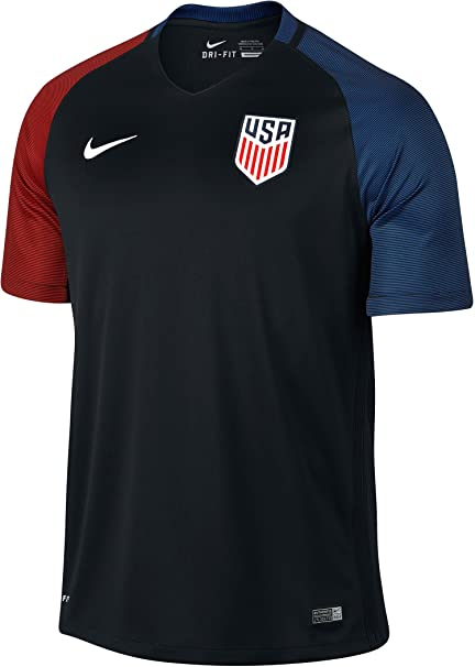 26f6bbd12 Amazon.com   NIKE United States Away Stadium Soccer Jersey (Black ...