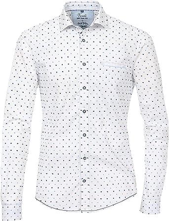 Venti - Camisa Formal - Lunares - para Hombre Blanco/Azul XXL: Amazon.es: Ropa y accesorios