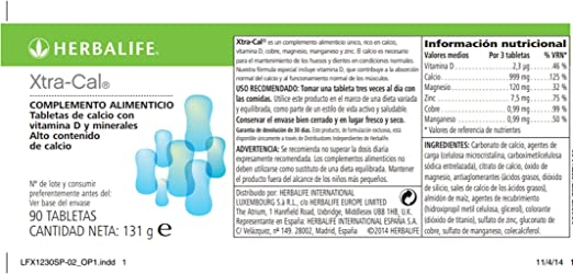 Herbalife xtra-cal. Calcium food supplement: Amazon.es: Electrónica