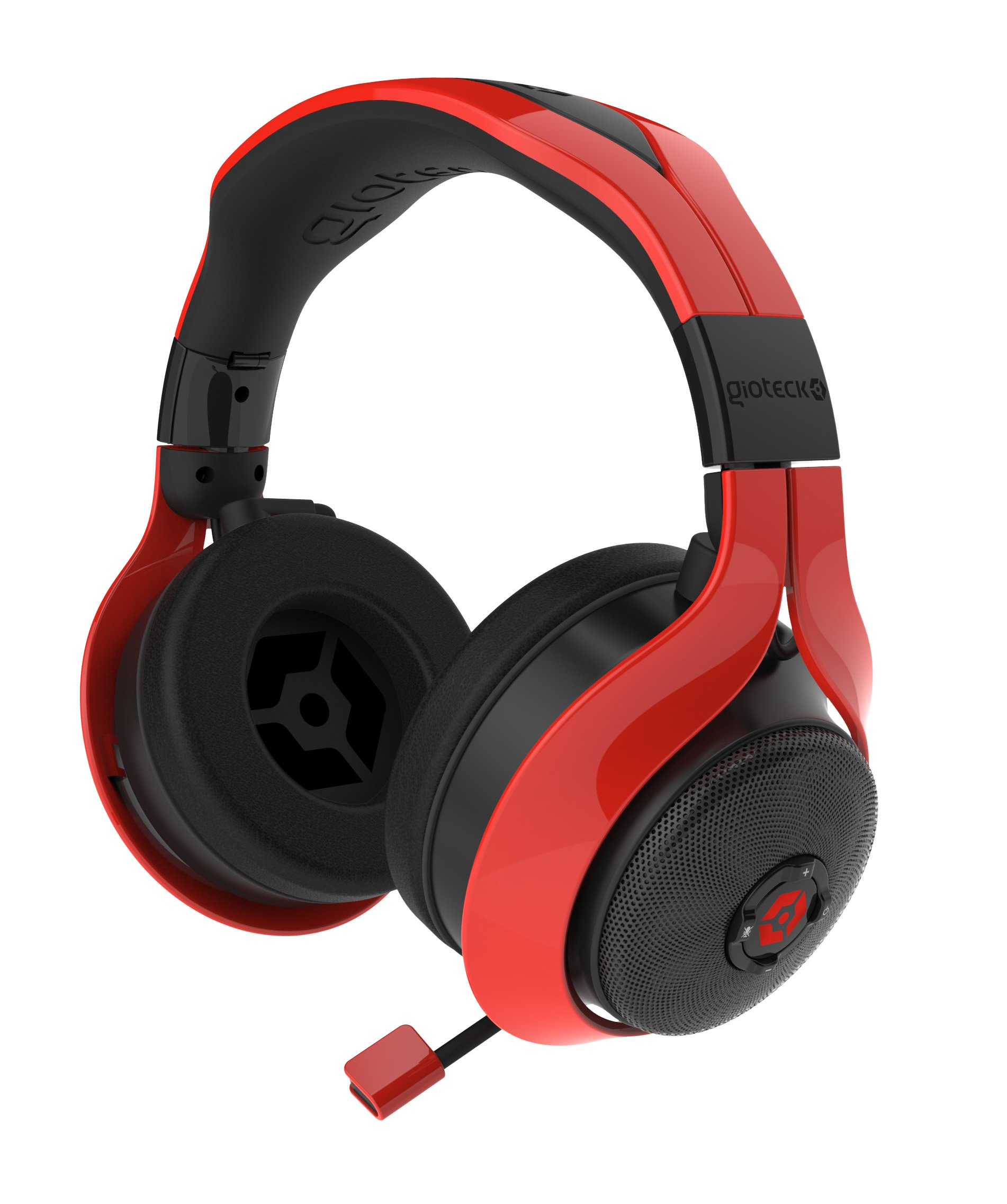 Gioteck FL-300 Wired Stereo Headset with Removable Bluetooth Speakers - PlayStation 4 - Red by Gioteck (Image #2)