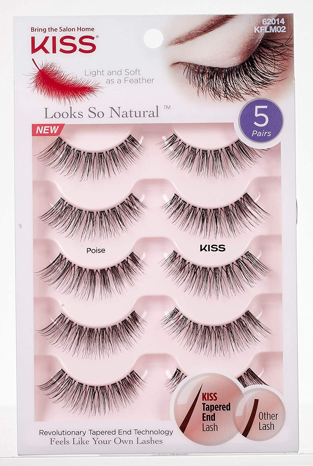 decf98a3ed8 Kiss Lashes Looks so Natural Multi Pack - Eyelashes, 0.05 Pounds:  Amazon.ca: Beauty