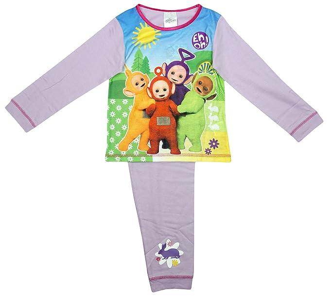 Las niñas de los Teletubbies EH Oh Tinky Winky Dipsy pijama Lila tallas de 12 meses