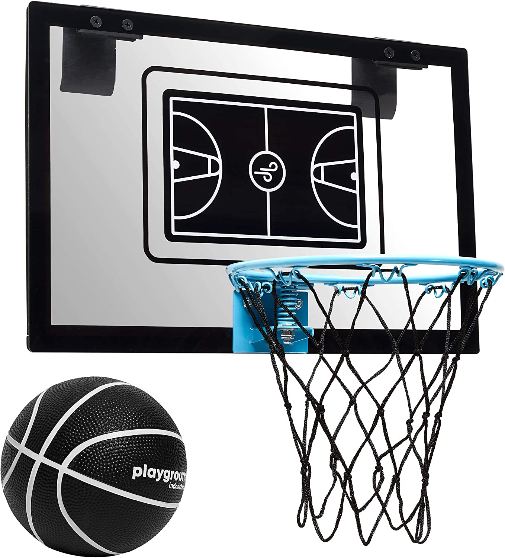Tailwind Cerceau de Basket-Ball Cerceau pour Terrain de Jeu intérieur (45 x 30 cm) avec Ballon idéal pour la Salle ou Le Lieu de Travail avec Panneau arrière Robuste et Filet en Nylon