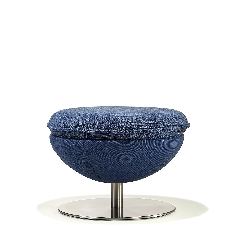 Designer-Hocker von Lillus, Design: Classic / elegant blau, Passend zu Lillus Sessel Art, Ideal als Beistellhocker, Sitzgelegenheit, Wohnzimmertisch, Beistelltisch, Ablagetisch, Couchtisch | Individuelle Farbauswahl | Höhe: 40 cm (Schwarz)