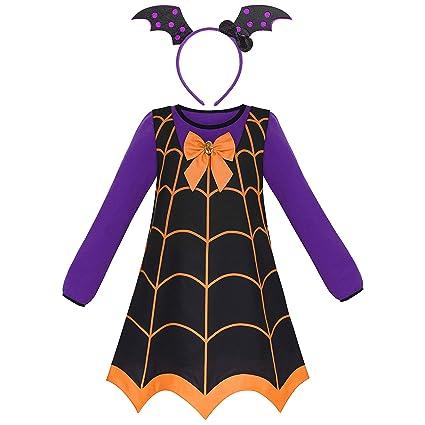 Sunny Fashion Vestido Para Niña 3 Piezas Vampiro Disfraz De Halloween Venda 2 3 Años