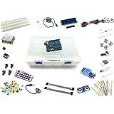 """Set / Kit für Arduino - """"UNO 3"""" mit UNO R3 Mikrocontroller und viel Zubehör - Lernset für Arduino Anfänger - Über 250 Teile - inkl. Fernbedienung und Relaiskarte"""