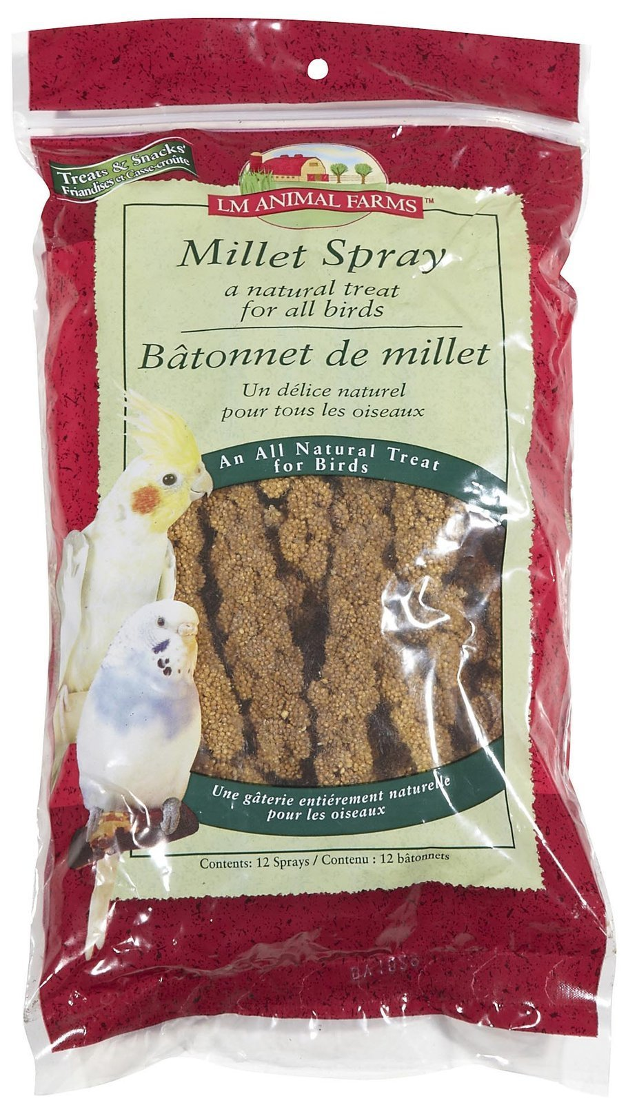 L & M Animal Farms B50171 12-Pack Millet Spray Pet Food