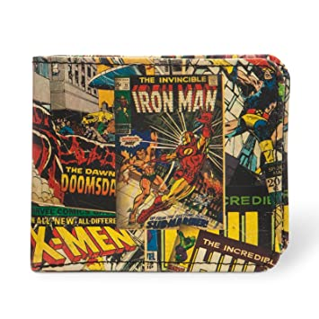 Marvel Comics - cartera de superhéroes - billetera y monedero al estilo retro de los cómics con logotipo de metal: Amazon.es: Juguetes y juegos