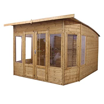 Outstanding 10X10 Wooden Summerhouse Garden Office Shiplap Tg Sloped Largest Home Design Picture Inspirations Pitcheantrous