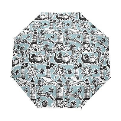 Folding Umbrella Rainproof /& Windprrof Umbrella Seagull Custom Umbrella Automatic
