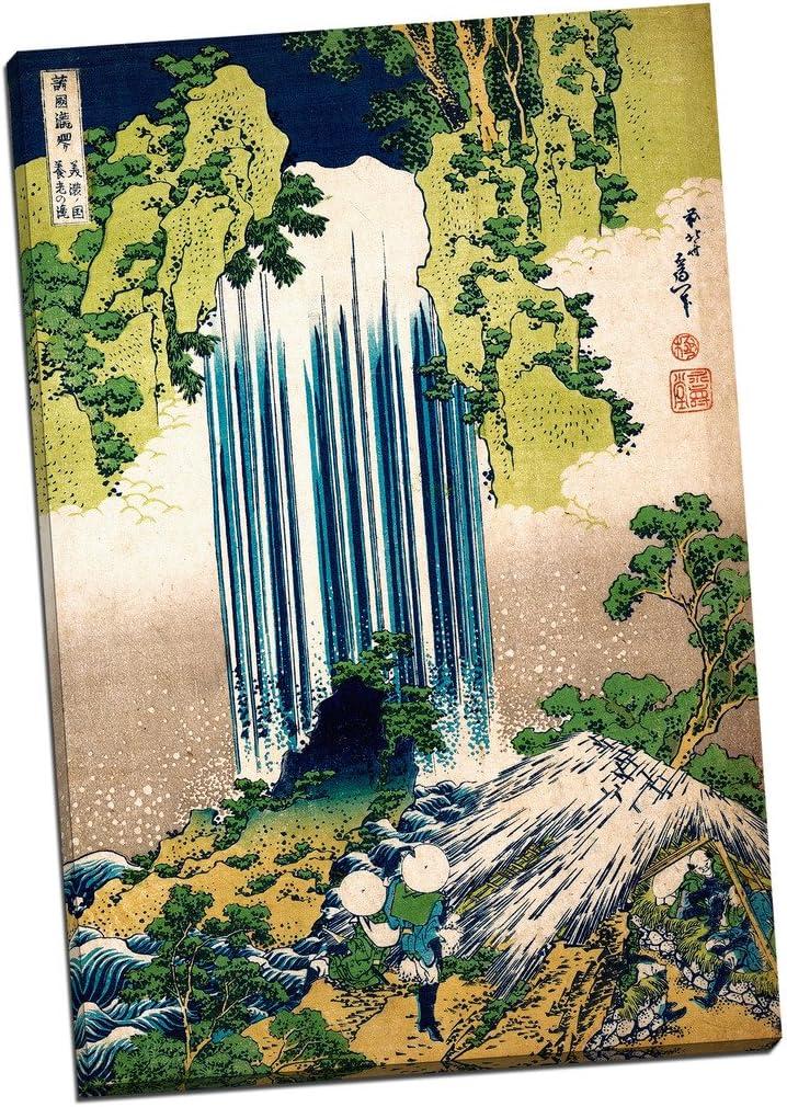 NEW HOKUSAI JAPAN ART PRINT WATERFALLS PATTERN T-SHIRT UK SIZES REGULAR FIT