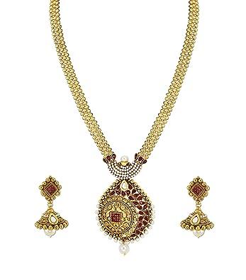 3c45ecaba Buy Zaveri Pearls Jewellery Set for Women (Golden) (ZPFK4882) Online ...