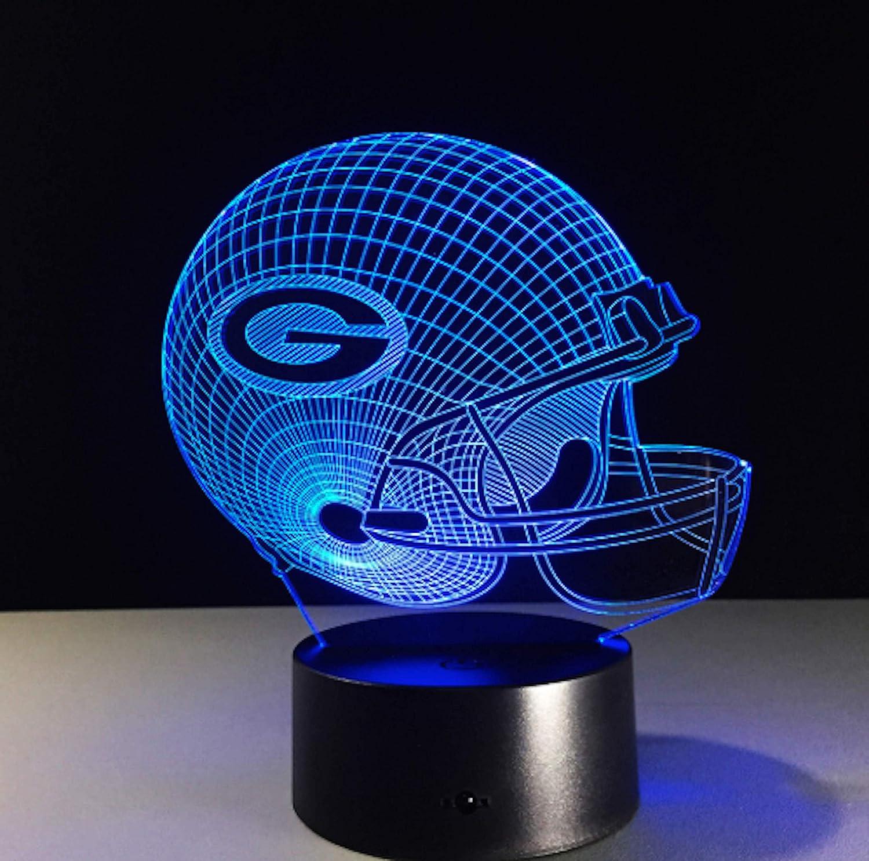 Touch Control Football Helmet Light Lamp- Upgraded Color Changing Touch Light Football Helmet Light Kansas City Chiefs Perfect Gift for Football Sports Lovers Night Light for Boys Men Women