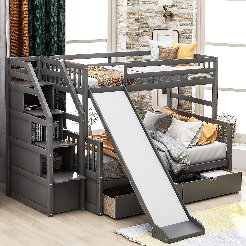 الحجم النسبي رزمة الخصم Bunk Bed With Slide Kevinstead Com