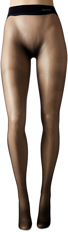 efdd65f7a6e44 CK Women's Seamless Sheer Pantyhose, Black, Size B: Amazon.ca: Clothing &  Accessories