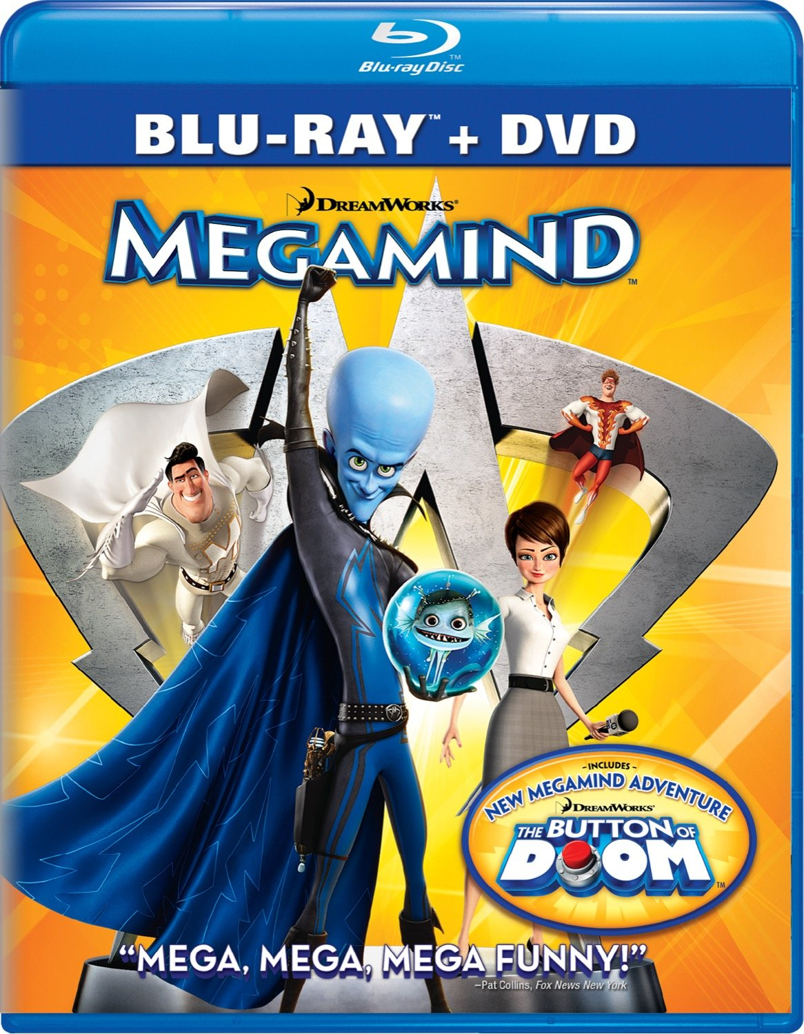 Blu-ray : Megamind (With DVD, , Dubbed, Dolby, AC-3)