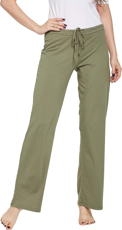 CYZ Womens Casual Stretch Cotton Pajama Pants Simple Lounge Pants