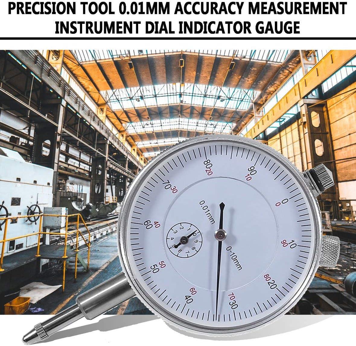 Monllack Professionelles Pr/äzisionswerkzeug 0,01 mm Messgenauigkeit Messger/ät Messuhr Stabile Leistung