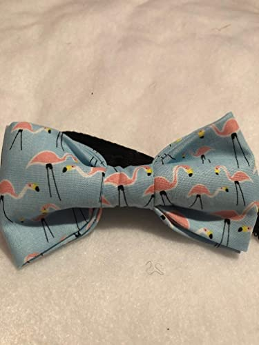 a30688dfcf83 Image Unavailable. Image not available for. Color: Spring Blue and pink  flamingo cotton bow tie ...