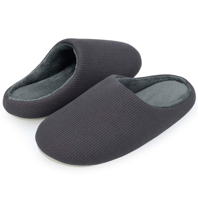 VIFUUR Women's House Slipper Cozy Memory Foam Home Slipper Slip-on Clog Indoor Shoes Dark Gray EU40/41