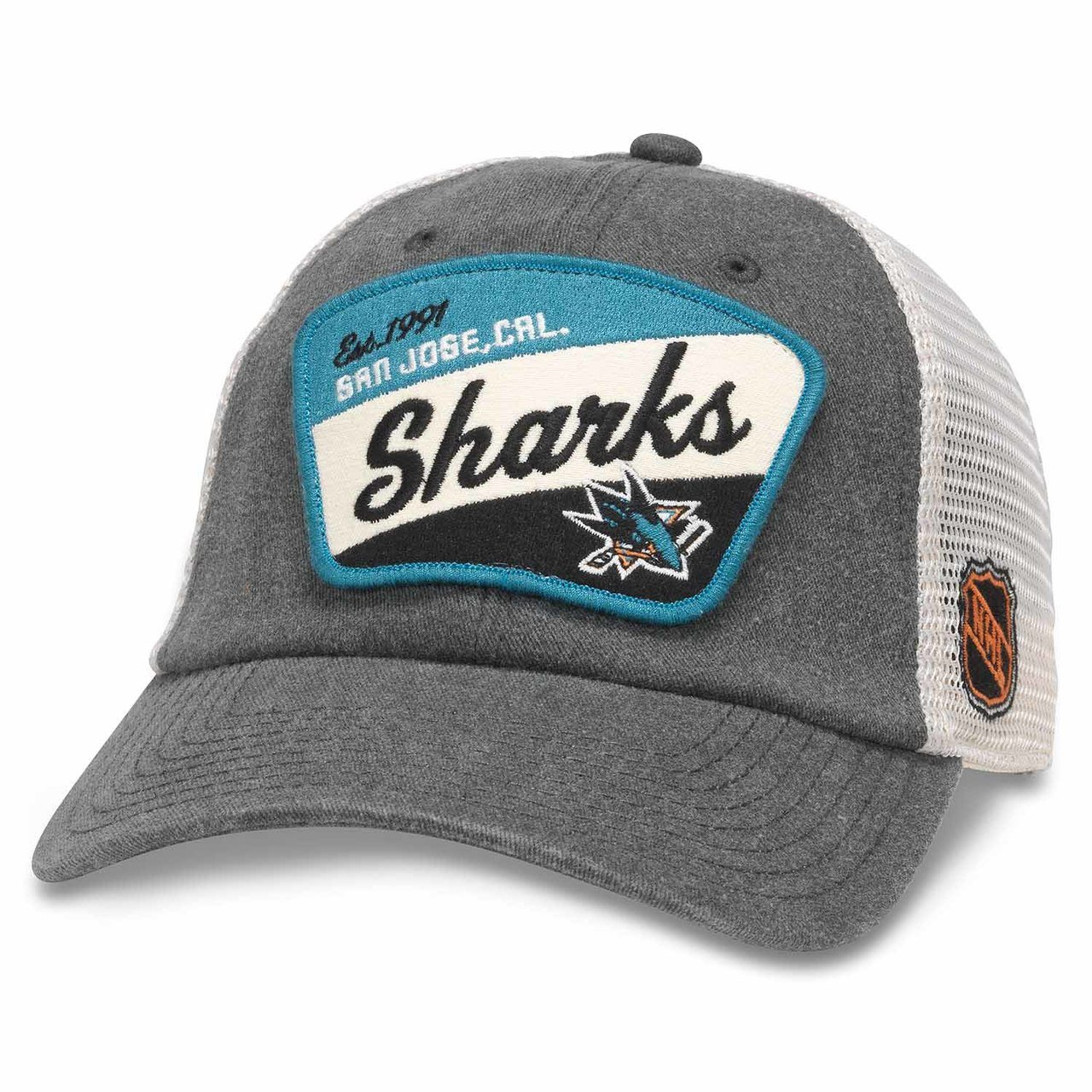 Amazon.com   San Jose Sharks Adult NHL Ravenswood Adjustable Hat -  Charcoal aea6aa22b