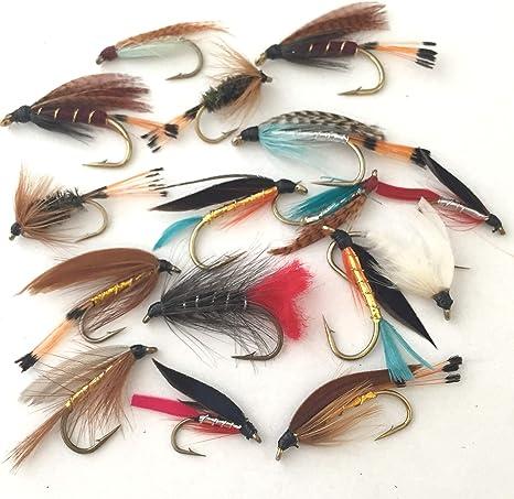 Pesca de moscas mosca mojada selección trucha de mar 16 grandes moscas PACK#20: Amazon.es: Deportes y aire libre