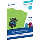Printworks Dark T-Shirt Transfers for Inkjet Printers, For Use on Dark and Light/White Fabrics, Photo Quality Prints, 20 Shee