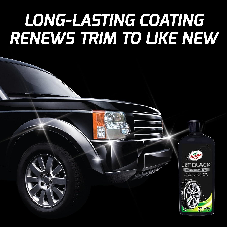 Turtle Wax T 128kt Premium Trim Coating Kit Automotive Turtlewax 3kt Jet Black Box Finish