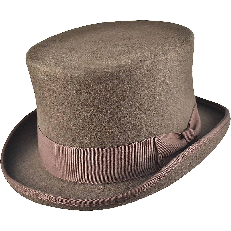 Cappello a cilindro di alta qualità, 100% lana, rivestito in satin, inscatolato