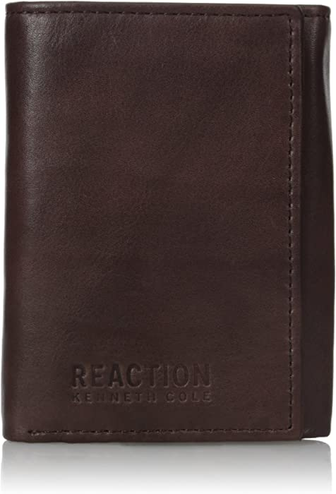 Reaction Kenneth Cole Crunch Leather Trifold Wallet - Extra Capacity