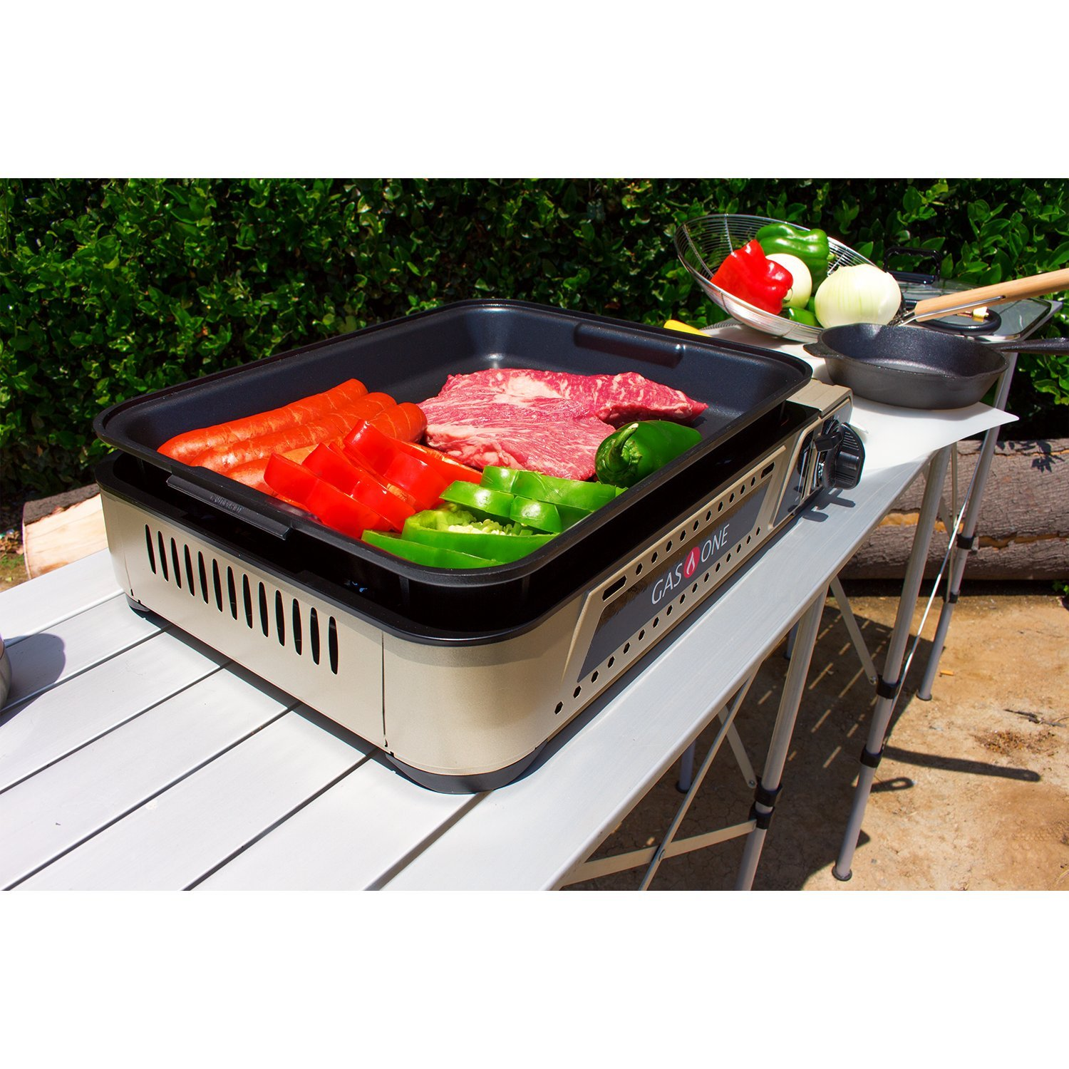 Portable Gas Grill Burner And Camping Griddle Propane And