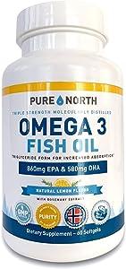 Pure North - Fish Oil Omega 3 Triglyceride Form