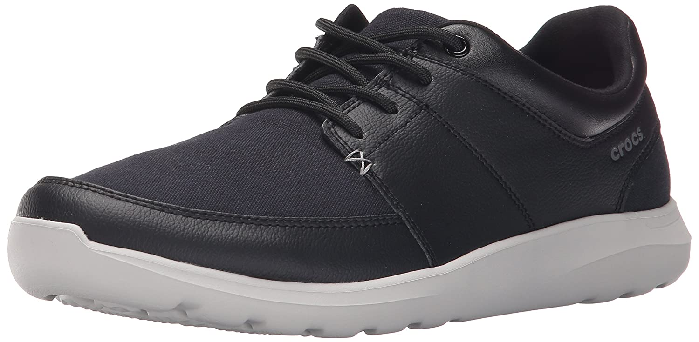 b116a806503f1 crocs Men's Black/Pearl White Sneakers-M7 (203052-069): Buy Online ...