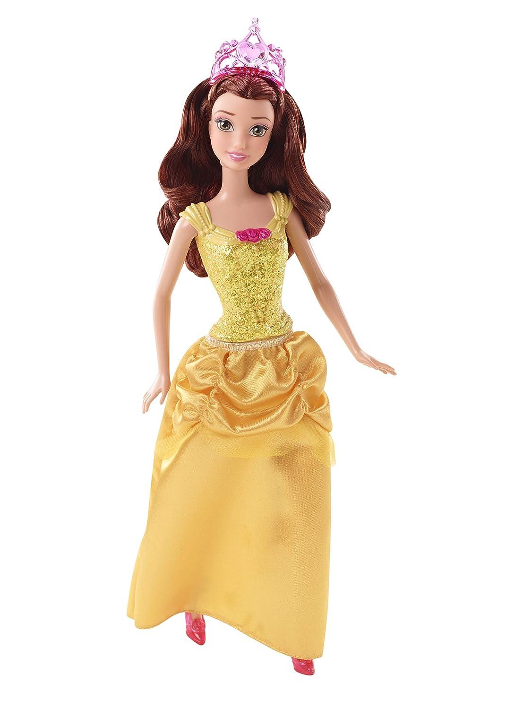 Disney Princesas Muñeca, princesa purpurina Bella (Mattel CFB75): Amazon.es: Juguetes y juegos