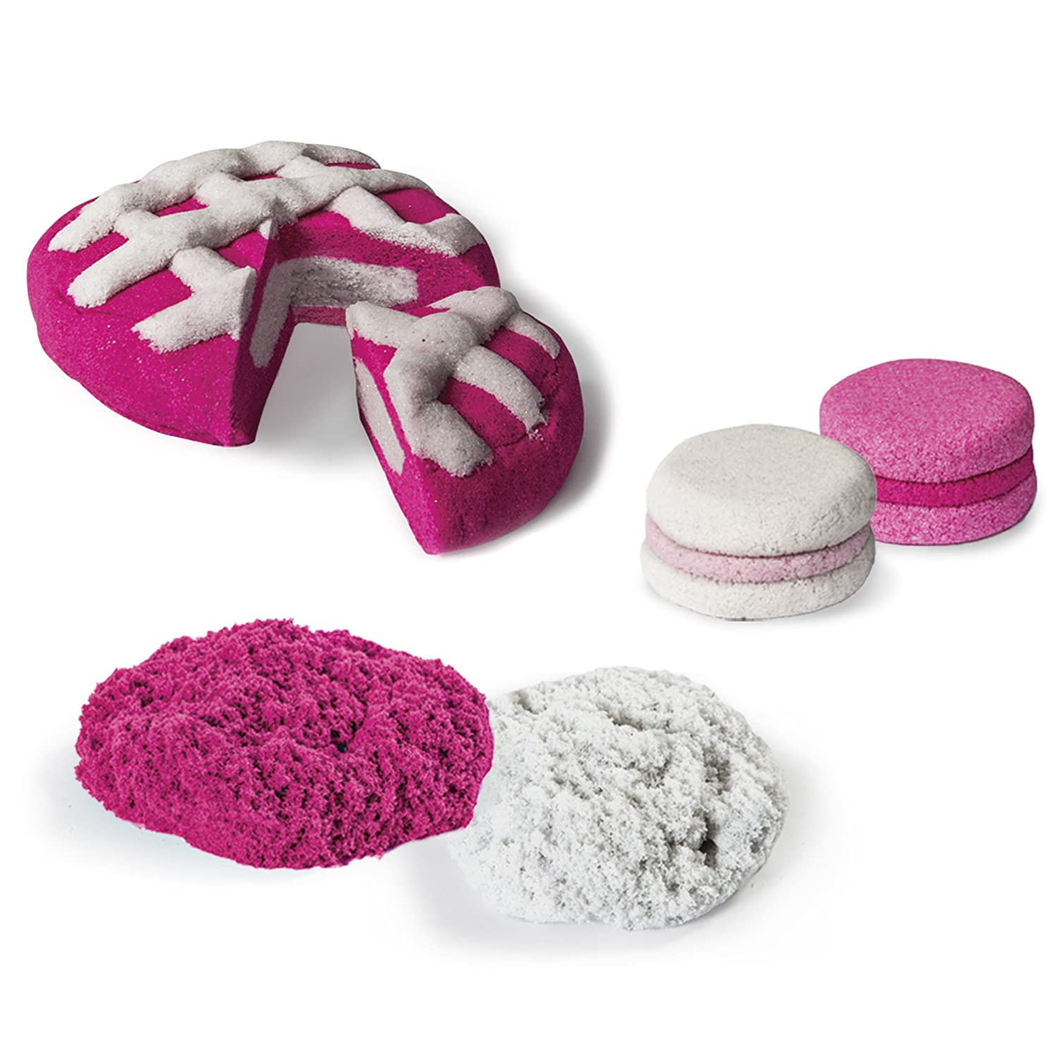 Kinetic Sand Build, 1lb Color Pack, Pink and Shimmering White